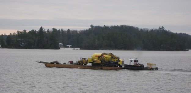 Propane Delivery to a Lake Joseph Island - By Rosskoka Team - Muskoka Area
