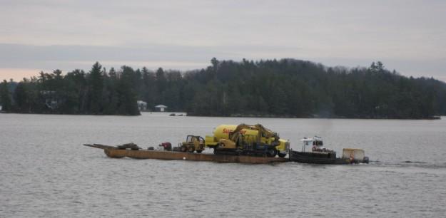 Propane Delivery to a Lake Joseph Island - By Rosskoka Team - Muskoka Area
