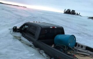 PickUp in Lake Ice Out Muskoka
