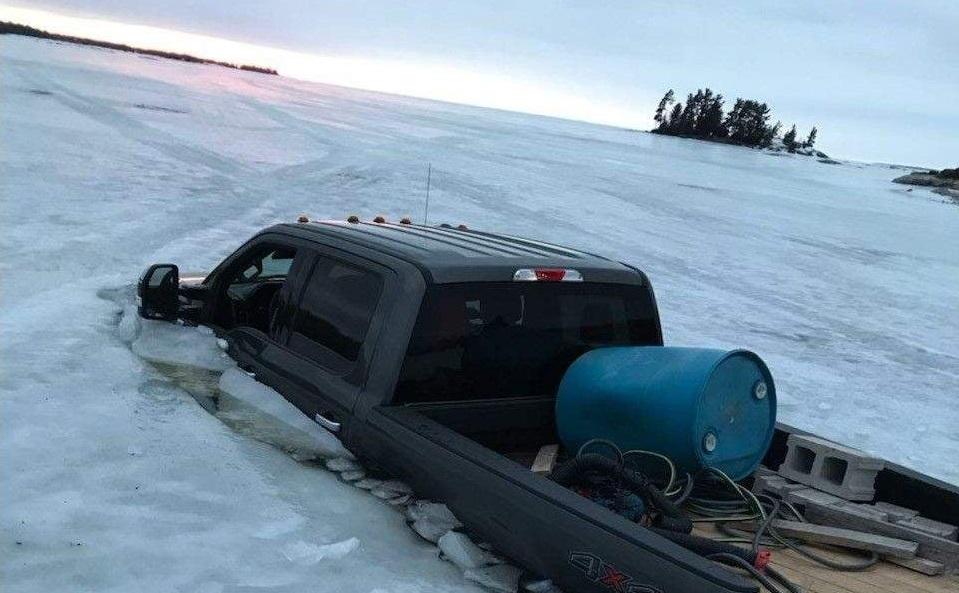 PickUp in Lake Ice Out Muskoka