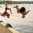 KidsJumpingOffDock Source: Getty Images